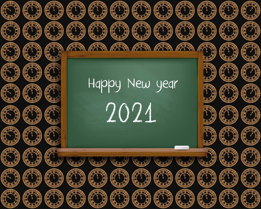 new year, 2021, home